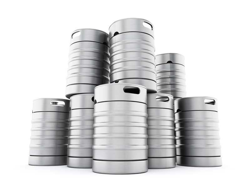 Stack of kegs